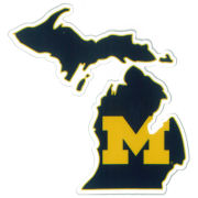 SDS University of Michigan 3'' State of Michigan Ultra Durable Dizzlers Decal
