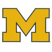 SDS University of Michigan 5'' Yellow Block ''M'' Logo Ultra Durable Dizzlers Decal