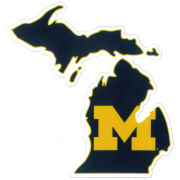 SDS University of Michigan 5'' State of Michigan Ultra Durable Dizzlers Decal