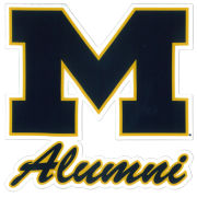 SDS University of Michigan Alumni 5'' Navy Block ''M'' Logo Ultra Durable Dizzlers Decal