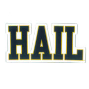 SDS University of Michigan 2'' HAIL Ultra Durable Dizzlers Decal