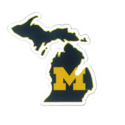 SDS University of Michigan 2'' State of Michigan Ultra Durable Dizzlers Decal