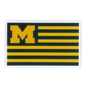 SDS University of Michigan 2'' Flag Ultra Durable Dizzlers Decal