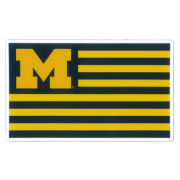 SDS University of Michigan 3'' Flag Ultra Durable Dizzlers Decal