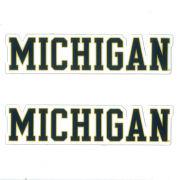 SDS University of Michigan 3'' Block ''Michigan'' Ultra Durable Dizzlers Decal