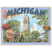 Bill Shurtliff University of Michigan Campus Scenes Sketches 2020 Calendar