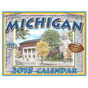 Bill Shurtliff University of Michigan Campus Scenes Sketches 2018 Calendar