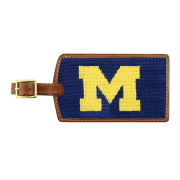 Smathers & Branson University of Michigan Needlepoint Luggage Tag