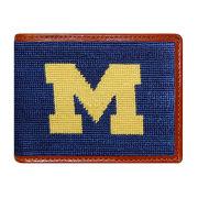 Smathers & Branson University of Michigan Needlepoint Bi-Fold Wallet