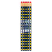 Spirit Products University of Michigan Polka Dot Pencils [5 Pack]