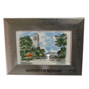 Spirit Products University of Michigan Horizontal Silver 4x6 Picture Frame