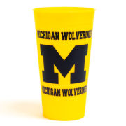 Yellow 30oz Plastic University of Michigan Tumbler
