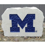 Stoneworx University of Michigan Large Block ''M'' Desk Stone