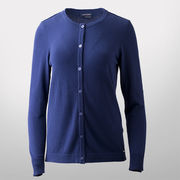 Saint James Navy Cashmere Button Down Cardigan Sweater