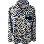 Summit University of Michigan White Tribal 1/4 Snap Fleece Pullover