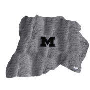 Summit University of Michigan Heather Navy Sherpa Throw Blanket
