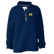Summit University of Michigan Women's Navy Sherpa 1/4 Zip Pullover