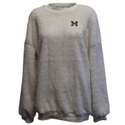 Summit University of Michigan Women's Ivory Double Plush Crewneck Sweatshirt