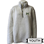Summit University of Michigan Youth Putty Sherpa 1/4 Zip Pullover