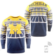 Valiant University of Michigan Football Light Up Holiday Sweater with Bluetooth Speaker