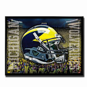 Team Spirit Store University of Michigan Football Head Gear Rolled Poster