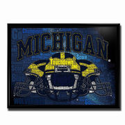Team Spirit Store University of Michigan Football Team Spirit Poster