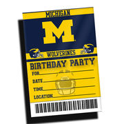 Team Spirit Store University of Michigan Football Birthday Party Invitations