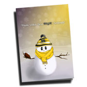 Team Spirit Store University of Michigan Snowman Christmas Card Pack