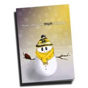 Team Spirit Store University of Michigan Snowman Christmas Card Pack