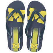 Forever Collectibles University of Michigan Gradient Flip Flops