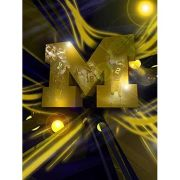 Team Spirit Store University of Michigan Football Platinum Logo Poster
