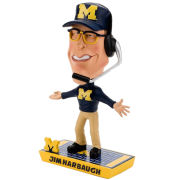 Forever Collectibles University of Michigan Football Jim Harbaugh Caricature Bobblehead