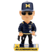 Forever Collectibles University of Michigan Football Bo Schembechler Caricature Bobblehead