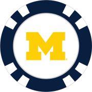 Team Golf University of Michigan Poker Chip Ball Marker