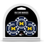 Team Golf USA University of Michigan Poker Chip Golf Ball Marker Set
