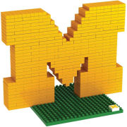 Forever Collectibles University of Michigan BRXLZ Block ''M'' Logo Puzzle Building Block Set