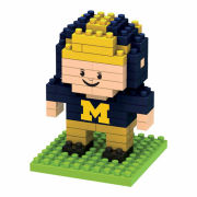 Forever Collectibles University of Michigan BRXLZ Player Puzzle Building Block Set