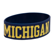 Forever Collectibles University of Michigan Navy Silicone ''Michigan'' Bracelet