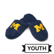 Forever Collectibles University of Michigan Youth Plush Slippers