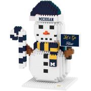 Forever Collectibles University of Michigan BRXLZ Snowman Puzzle Building Block Set