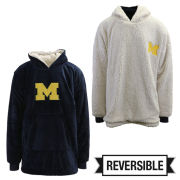 Valiant University of Michigan Oversized Reversible Sherpa Hoodeez