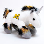 Forever Collectibles University of Michigan Fuzzy Unicorn Plush