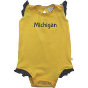 Third Street University of Michigan Infant Frilly Trim Onesie