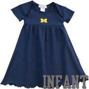 Third Street University of Michigan Infant Girls Navy Glitter M Dress