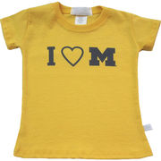 Third St. University of Michigan Infant Yellow I Heart M Tee