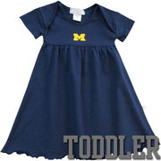 Third Street University of Michigan Toddler Girls Navy Glitter M Dress