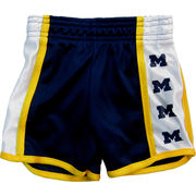 Third Street University of Michigan Youth Girls Navy Dazzle Shorts