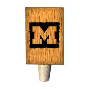 Timeless Etchings University of Michigan Wine Barrel Stave Bottle Stopper