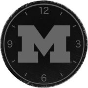 Timeless Etchings University of Michigan Slate Wall Clock