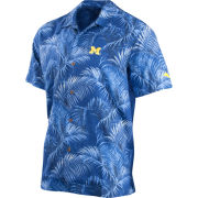 Tommy Bahama University of Michigan Silk Fez Fronds Camp Shirt